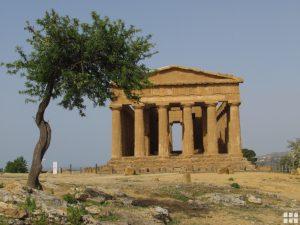 Concordia Tempel Sizilien Agrigent Tal der Tempel