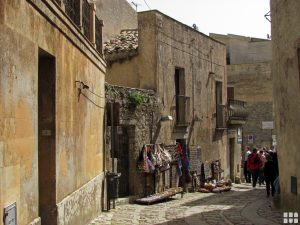 Gassen in Erice Sizilien