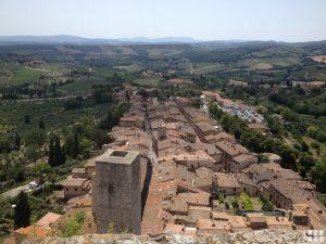 Ausblick auf San Gimignano Toskana