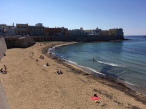 Strand von Gallipoli Apulien