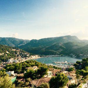 Mallorca Blick auf die Bucht von Soller